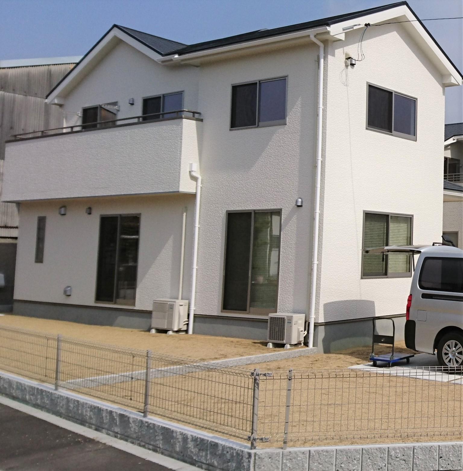 倉敷市の新築住宅へUVフロアコーティング